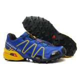 Chaussure Salomon Rabais Paris Speedcross 3 Cs Bleu Jaune Noir