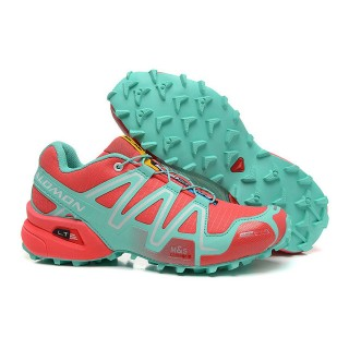 Destockage Chaussure Salomon Speedcross 3 Cs Femme Rouge Cyan