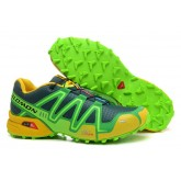 Promotions Chaussure Salomon Speedcross 3 Cs Vert Jaune