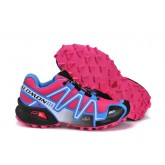 Chaussure Salomon Original Speedcross 3 Cs Femme Rose Bleu