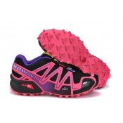 Boutique officielle Chaussure Salomon Speedcross 3 Cs Femme Rose Noir