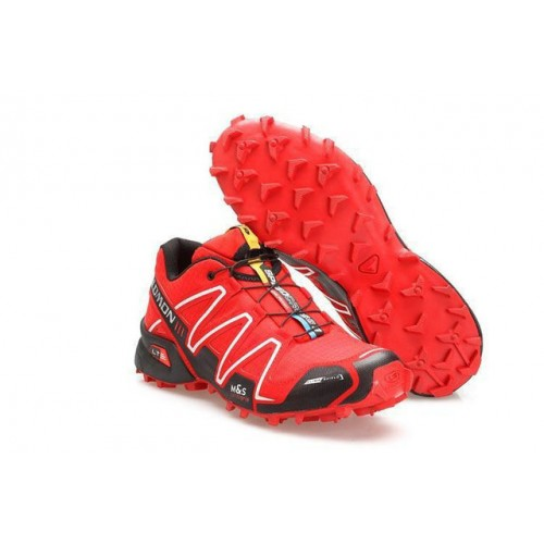 Chaussures Salomon Speedcross rouges fille