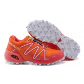 Chaussure Salomon France Pas Cher Speedcross 3 Orange Blanc