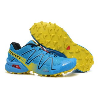 Chaussure Salomon Magasin Paris Speedcross 3 Cs Cyan Jaune