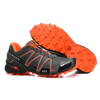 Chaussure Salomon Promo Prix Paris Speedcross 3 Cs Gris Semelle Orange