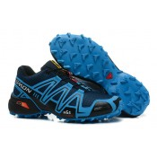 Chaussure Salomon Rabais Speedcross 3 Cs Marine Semelle Bleu