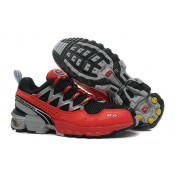 Chaussure Salomon Soldes Provence GCS Running Homme Noir Cramoisi Gris