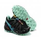 Chaussures Salomon Prix France Speed Cross 3 Femme Noir Cyan