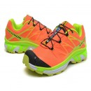 Chaussures Salomon En Soldes XT 3D Wings Ultra Homme Cyan Orange