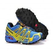 Chaussure Salomon Europe Running Speedcross 3 Cs Bleu Jaune Noir