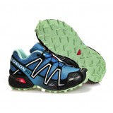 Paris Chaussure Salomon Running Speedcross 3 Cs Cyan Blanc Vert