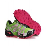 Chaussures Salomon Pas Chere Running Speedcross 3 Cs Jaune Noir Rose