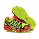 Chaussures Salomon Escompte En Lgine Running Speedcross 3 Cs Jaune Rose Gris