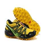Chaussures Salomon Site Officiel Running Speedcross 3 Cs Noir Jaune Vert