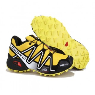 Chaussures Salomon Paris Running Speedcross 3 Cs Noir Jaune