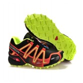 Boutique Chaussures Salomon Paris Running Speedcross 3 Cs Noir Marron Jaune