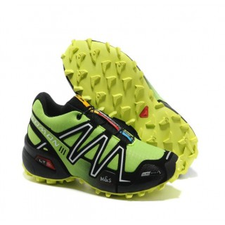 Magasin Chaussures Salomon Paris Running Speedcross 3 Cs Vert Jaune Noir