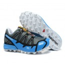 Chaussures Salomon Paris S-LAB Fellcross 2 Gris Bleu Ciel Blanc