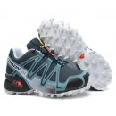 Chaussures Salomon Boutique Speedcross 3 Cs Cyan Noir Blanc