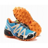Vente Privee Chaussure Salomon Speedcross 3 Homme Cyan Orange