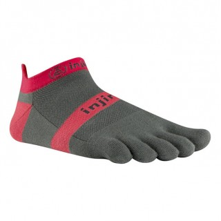 Chaussettes Injinji Run Lightweight No Show Rouge Large Boutique En Ligne