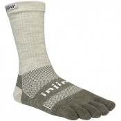 Site Officiel Chaussettes Injinji Crew Midweight Nuwool Gris Sable Prix