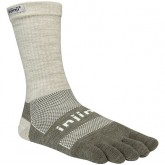 Chaussettes Injinji Crew Original Weight Nuwool Gris Sable Small Pas Cher