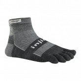 Chaussettes Injinji Mini Crew Midweight Nuwool Anthracite Officiel