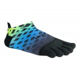Prix Chaussettes Injinji Run Lightweight No Show Abstract Lime Bleu