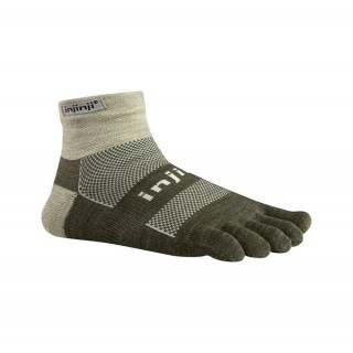 Chaussettes Injinji Mini Crew Midweight Nuwool Gris Sable Boutique