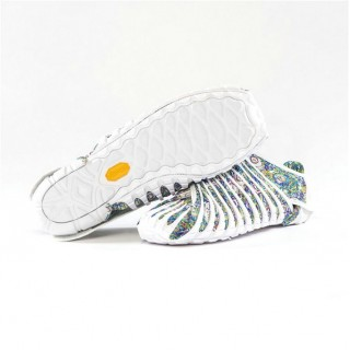 Chaussures Vibram Furoshiki Original Blanc Flower Paris Boutique